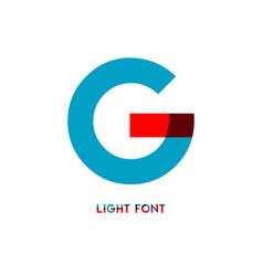 G light font template design vector