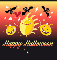 Graphics halloween and pumpkins vector