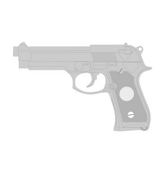 gun isolation on a white vector image