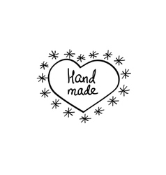 Hand-drawn retro hand-made badge vector