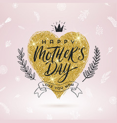 Happy mothers day - greeting card design vector
