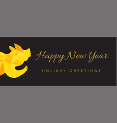 happy new year banner template vector image