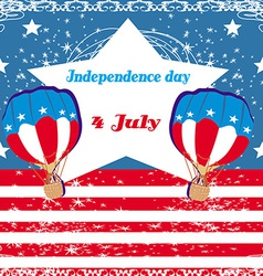 Hot Air Balloons of 4 of July vector image