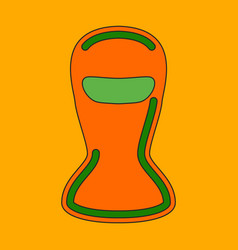 Icon in flat design balaclava vector
