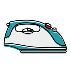 iron clothes appliance icon vector image