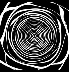 Irregular spiral background in square format vector