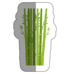 Isolated bamboo design vector
