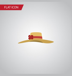 isolated woman hat flat icon elegant headgear vector image