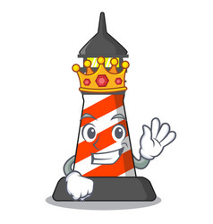 King classic cartoon lighthouse of red vector