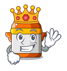 King electric pressure cooker isolated on mascot vector