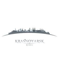 Krasnoyarsk Russia city skyline silhouette vector image vector image
