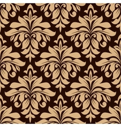 Light brown floral seamless pattern vector