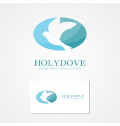 Logo design dove of peace vector