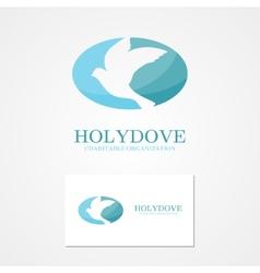 logo design dove peace vector image