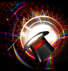 magic hat on a bright background vector image