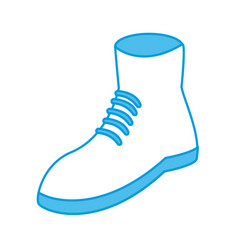 man boot footwear vector image
