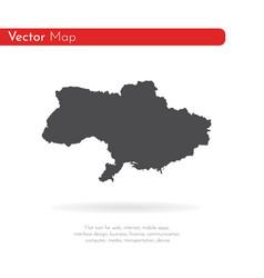 map ukraine isolated black vector image