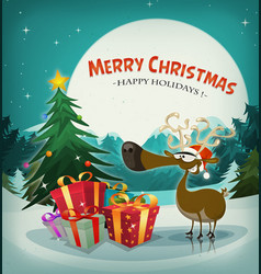 Merry christmas holidays background vector