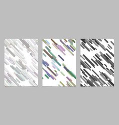 Modern chaotic rounded diagonal stripe background vector