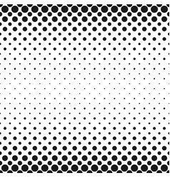 monochrome geometrical halftone circle pattern vector image