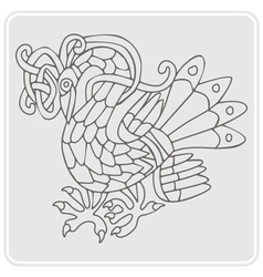 Monochrome icon with Celtic art and ethnic vector