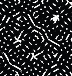 Monochrome messy seamless pattern with parallel vector