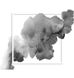 Monochrome watercolor paint splash vector
