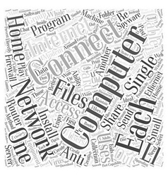 Networking Home Computers Word Cloud Concept vector image vector image