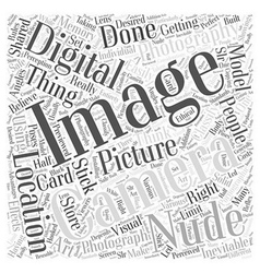 Nude digital photography Word Cloud Concept vector
