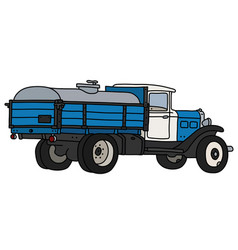 old dairy tank truck vector image