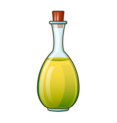 olive oil virgin bottle icon cartoon style vector image