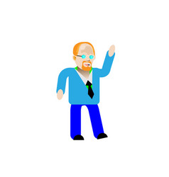 one young cute happy smile fun redhead white man vector image