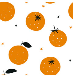 oranges isolated on white background winter vector image