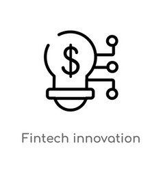 Outline fintech innovation icon isolated black vector