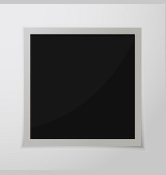 Paper photo frame vector