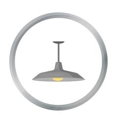 Pendant light icon in cartoon style isolated on vector