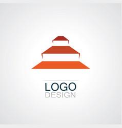 Piramyd shape logo vector