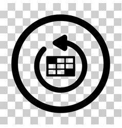 refresh calendar rounded icon vector image