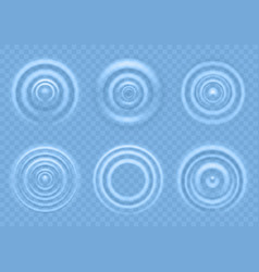 Ripple on blue water circular waves of vector