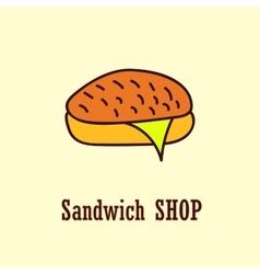 Sandwich logo template vector
