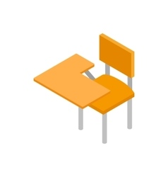 School desk icon isometric 3d style vector