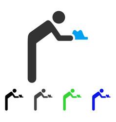 Servant person flat icon vector