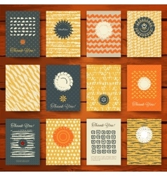 set grunge vintage cards vector image
