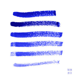 set of blue indigo watercolor hand painted stripes vector image