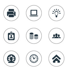 Set simple trade icons vector
