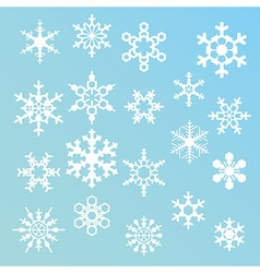 Snowflakes silhouettes vector