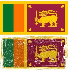 Sri lanka grunge flag grunge effect can be vector