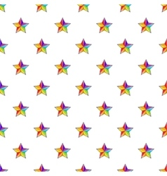 Star in colours of LGBT pattern cartoon style vector
