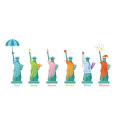 statue liberty in season vector image
