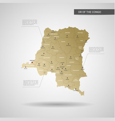 stylized dr of the congo map vector image